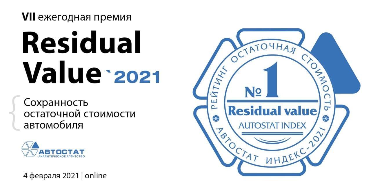 Сегодня станут известны автомобили – лауреаты 7-ой Премии «Residual value-2021»