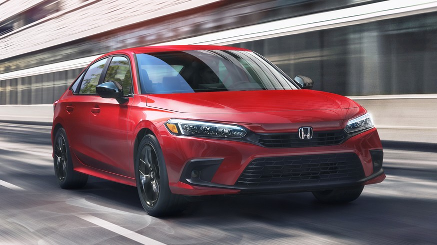 Honda показала профиль пятидверного хэтчбека Civic нового поколения