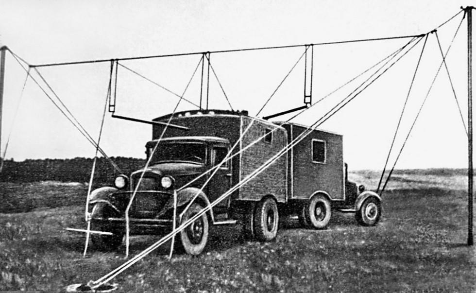 Первая советская мобильная радиолокационная станция «Ревень»