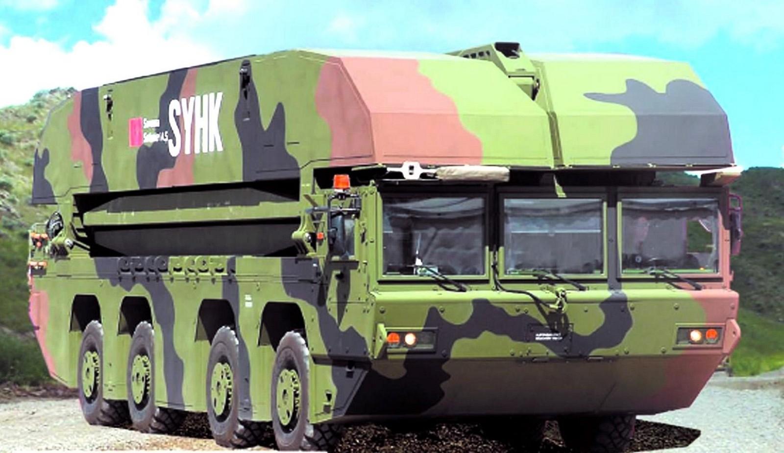 Самоходный четырехосный мостовой понтон FNSS АААВ Syhk