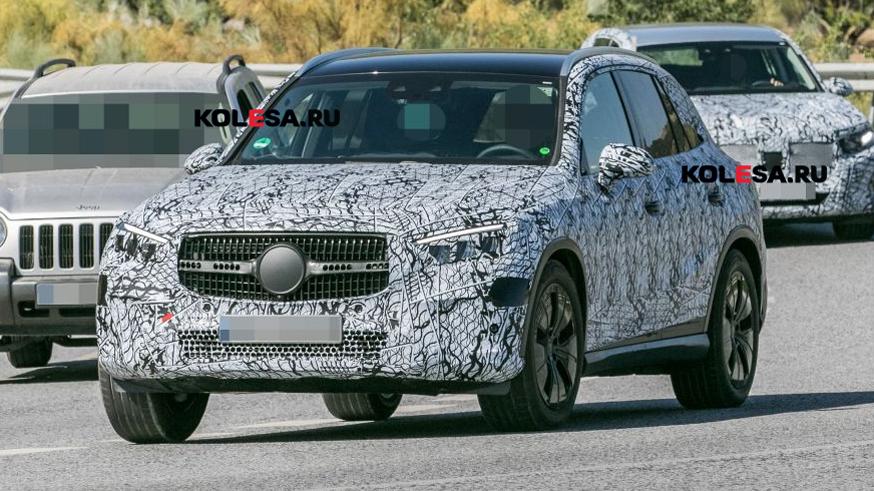 Mercedes-Benz GLC нового поколения снова на тестах: у кроссовера будет несколько гибридов