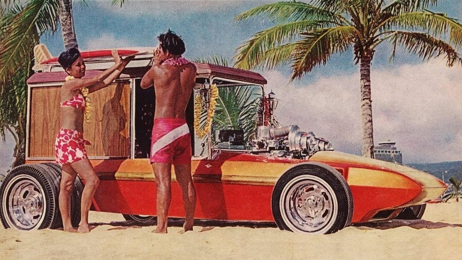 В качестве декора этого багги Джордж использовал старинные «тюдоровские» фонари – так и вижу разомлевших британских аристократов, выбравшихся на прогулку за рулем Surf Woody…