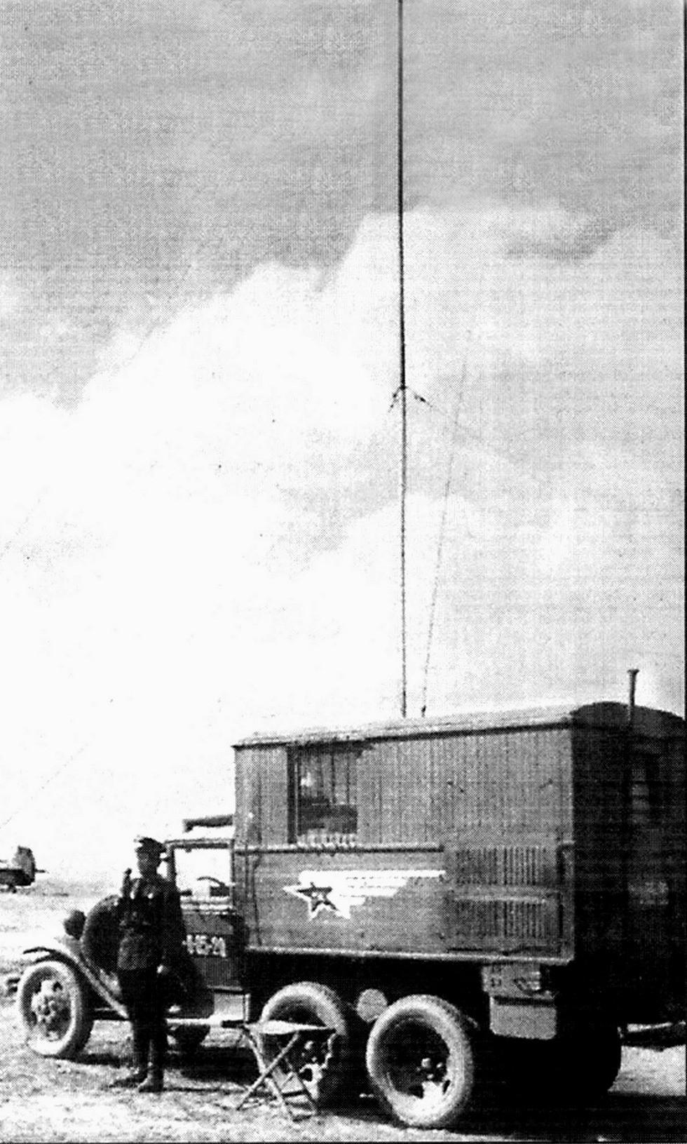 Мощная войсковая радиостанция РСБ-Ф в деревянном кузове