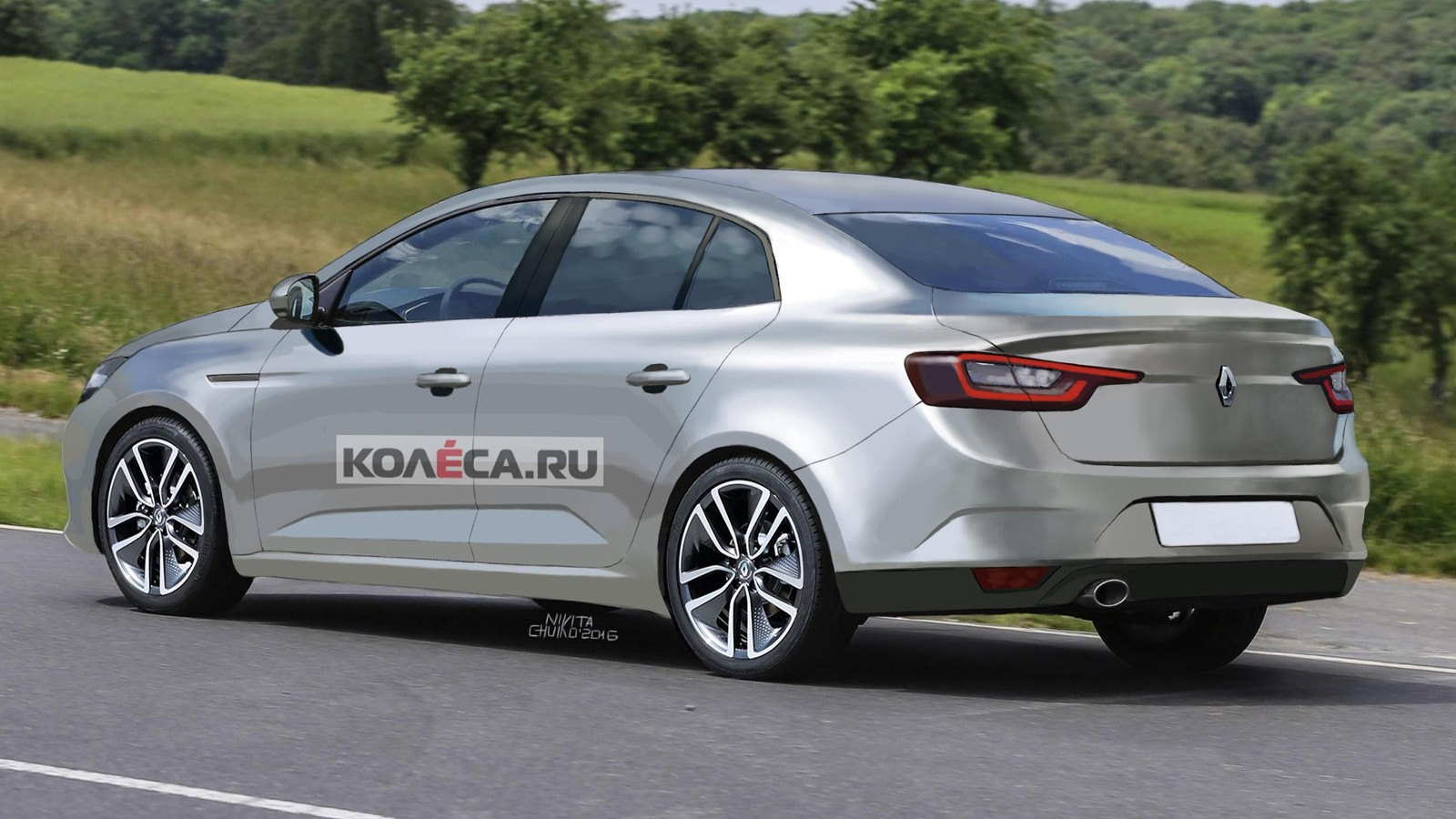 Renault Megane render rear