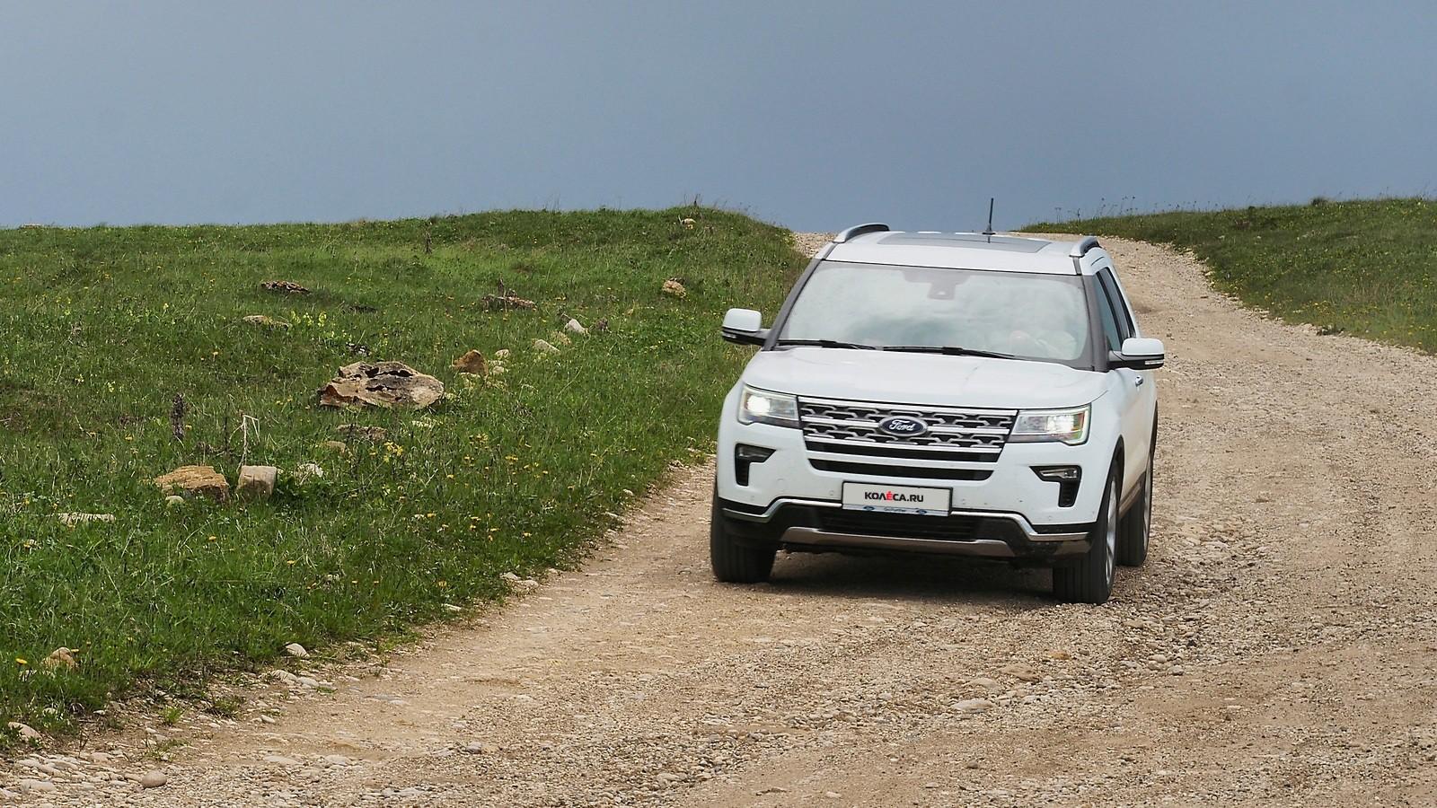 Ford Explorer белый на ходу