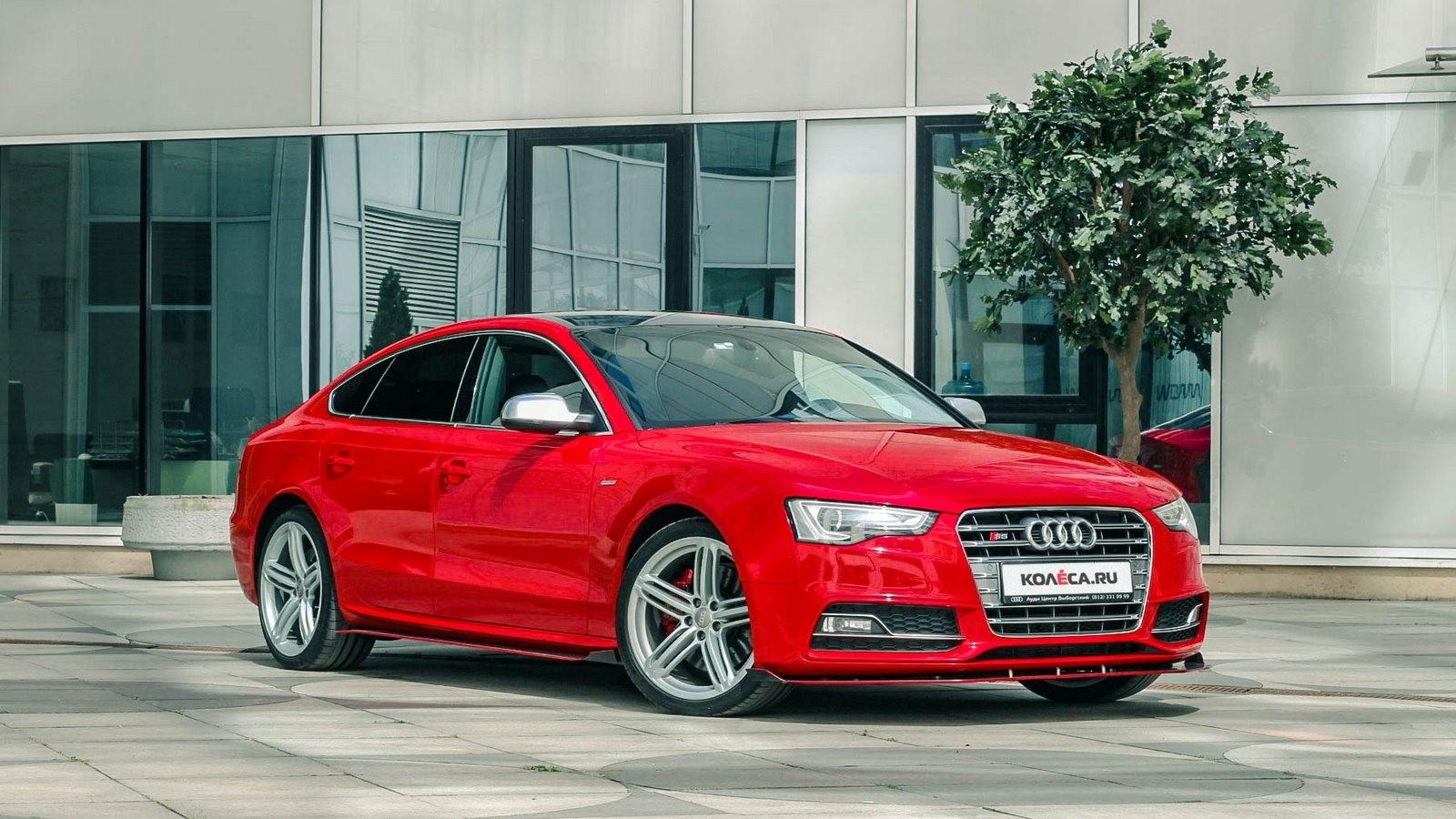Audi A5 Sportback красная три четверти (1)