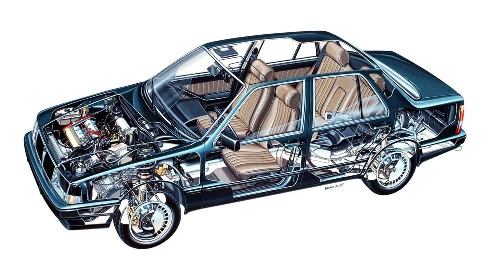 Lancia Thema схема автомобиля