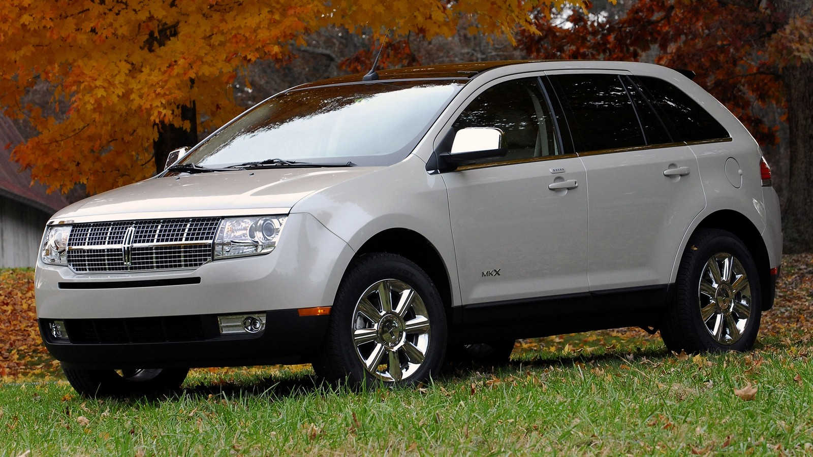 Lincoln MKX белый вид три четверти