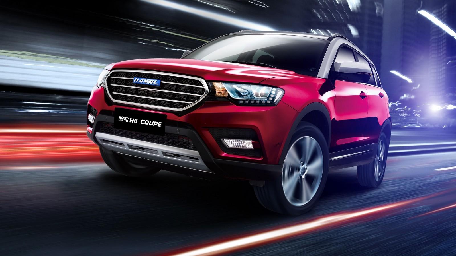 Haval H6 Coupe 2015 красный в движении