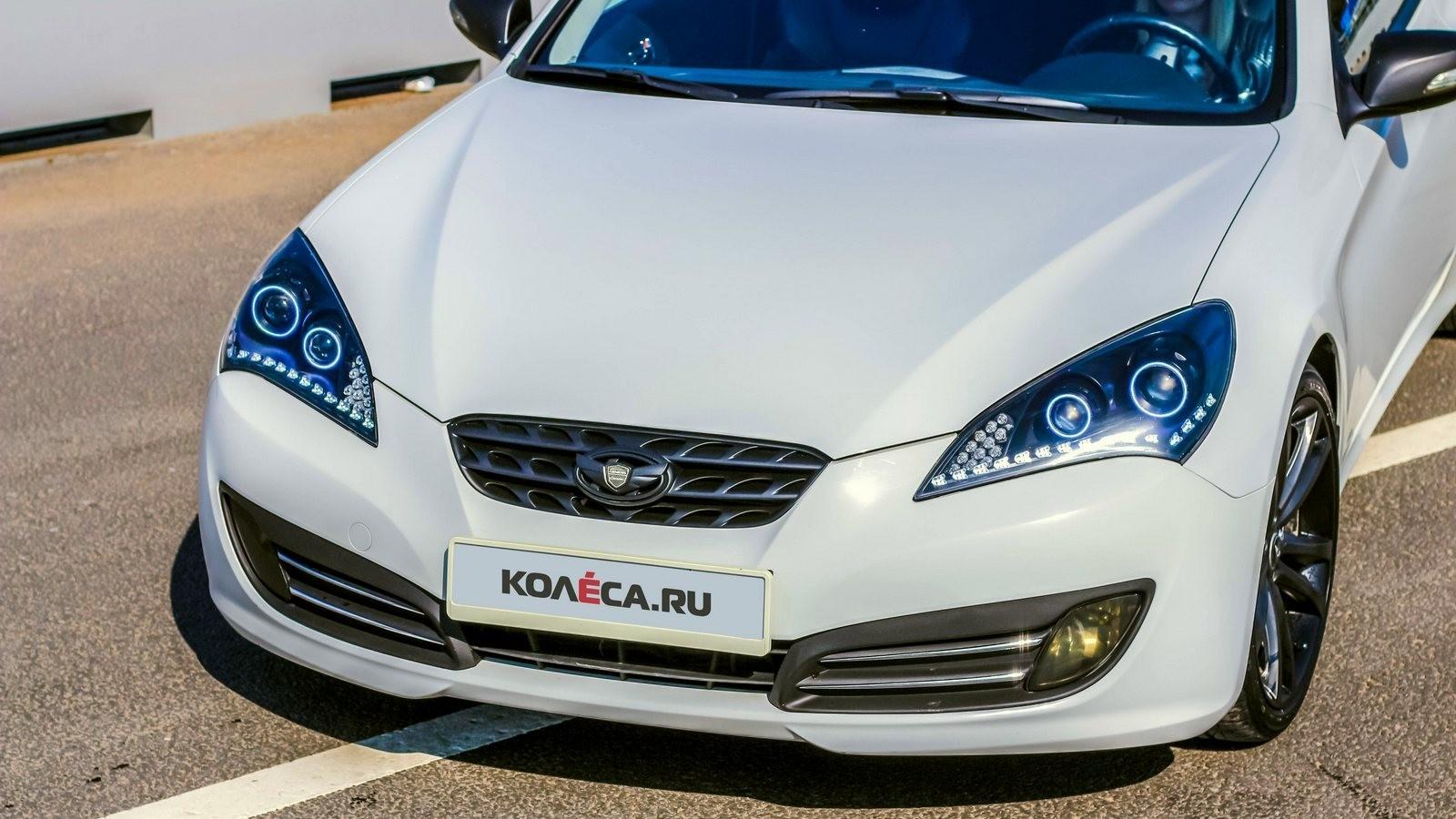 Hyundai Genesis Coupe белый передняя часть