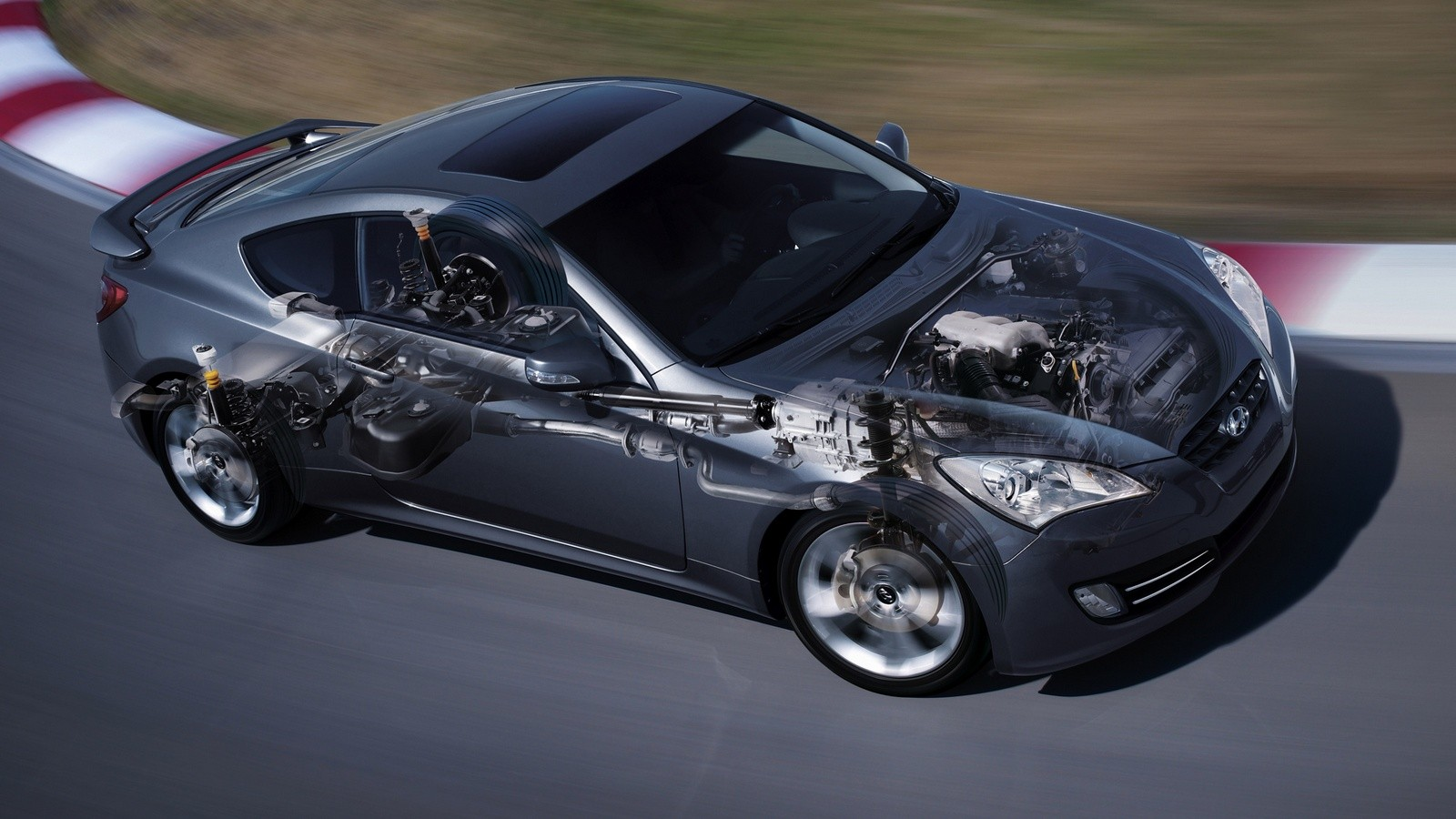 Hyundai Genesis Coupe схема в движении