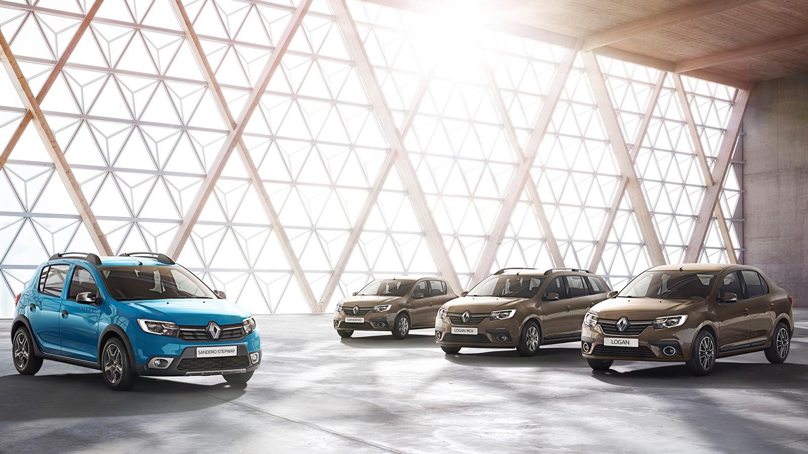 Официальное фото обновлённых Renault Logan и Sandero