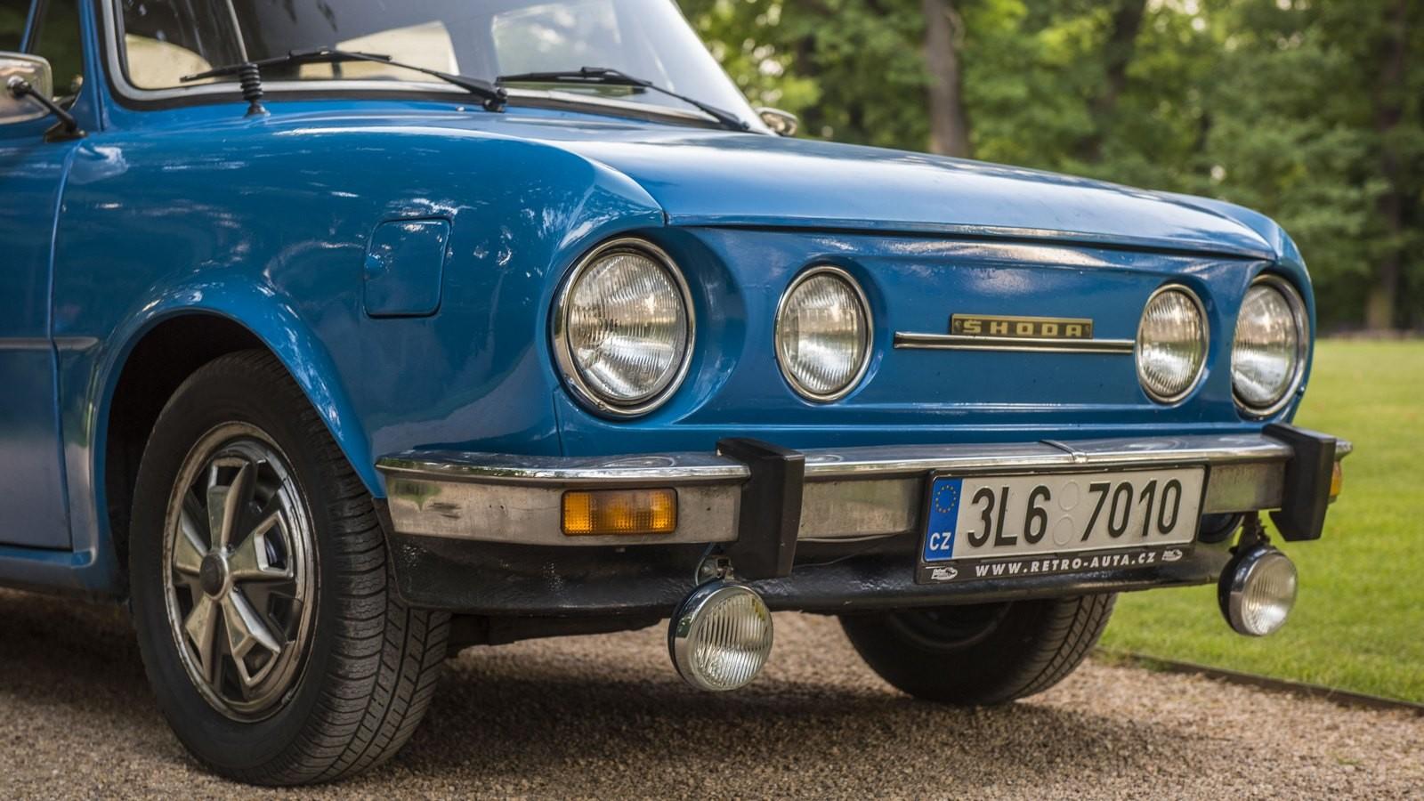 Skoda110 голубой передняя часть
