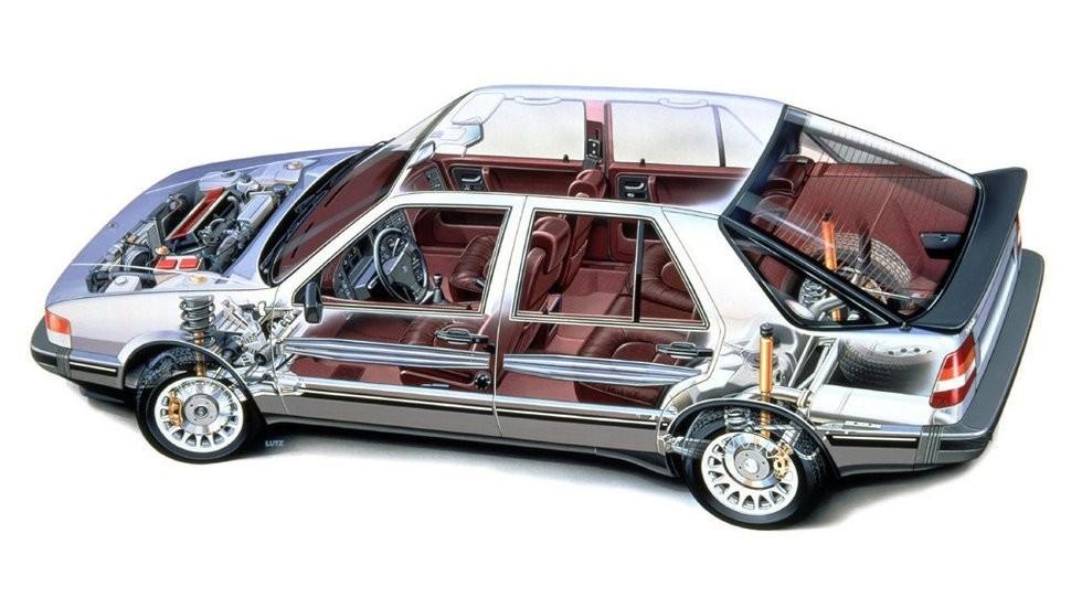 SAAB 9000 Turbo схема автомобиля