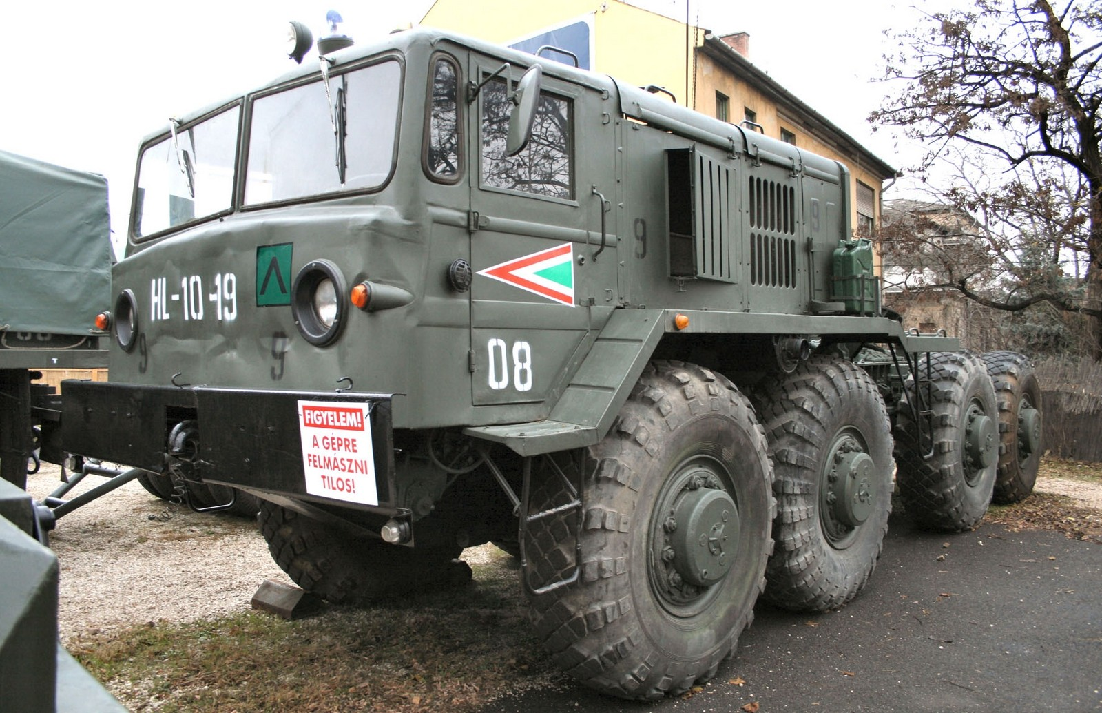 Тягач МАЗ-537 третьего поколения в вооруженных силах Венгрии (из архива F. Gabor)