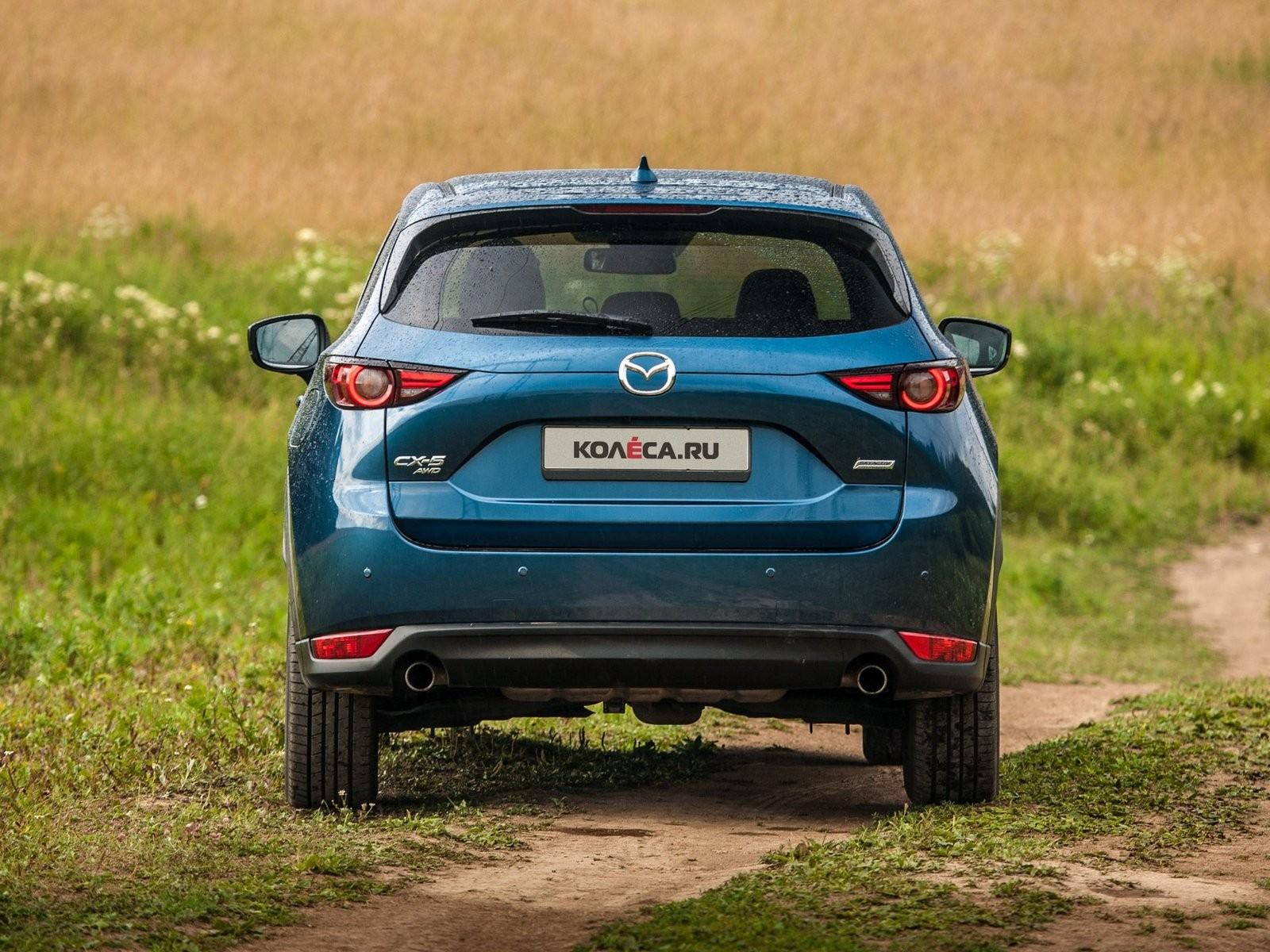 Mazda CX-5 синяя сзади