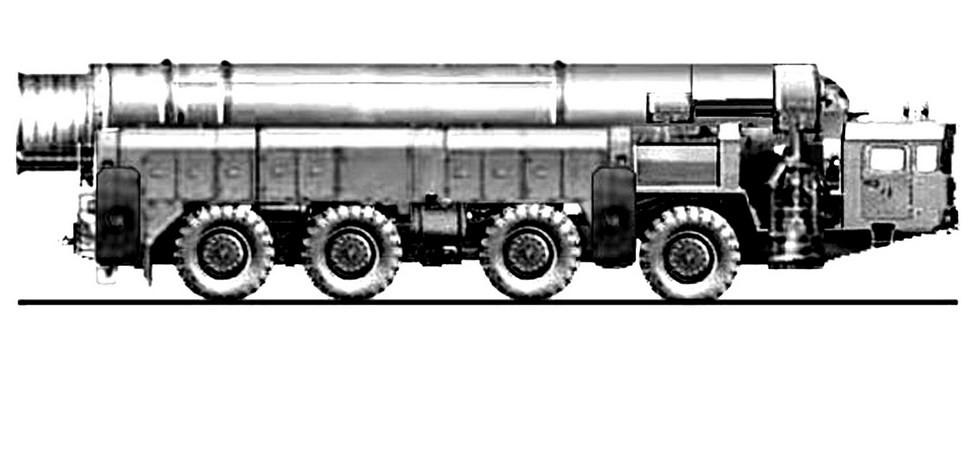 Эскиз мобильного компактного межконтинентального комплекса «Курьер» на шасси МАЗ-7909