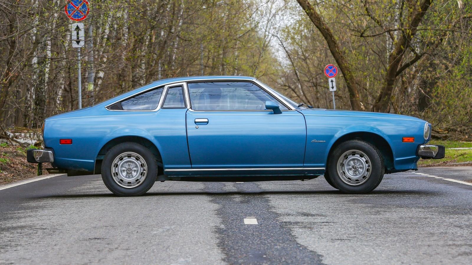 Mazda RX-5 голубая сбоку