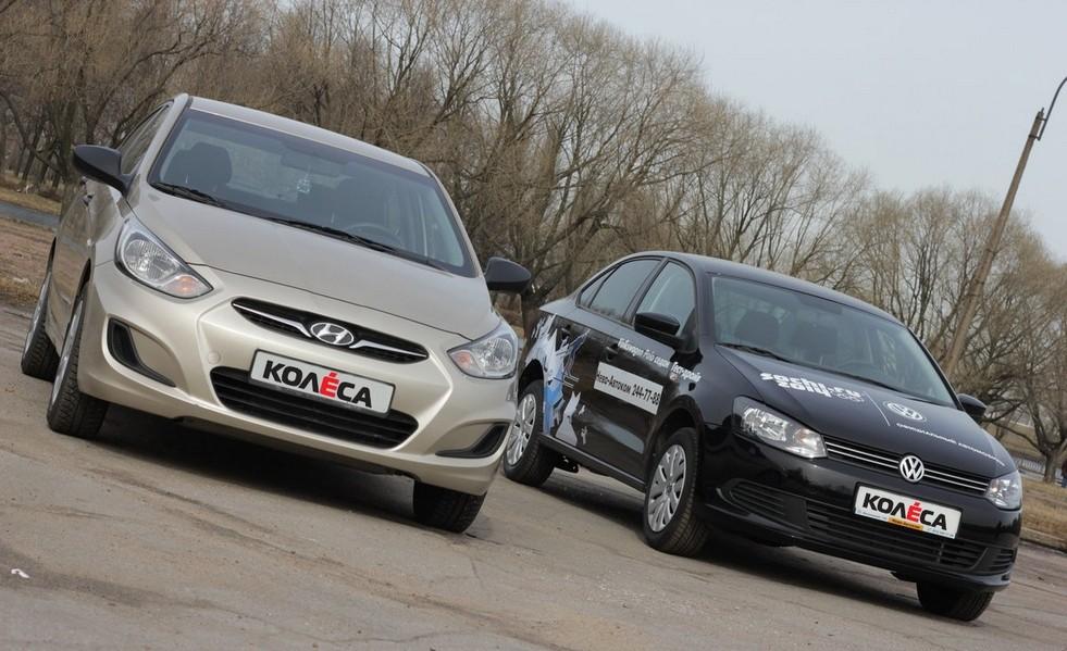 Hyundai Solaris vs VW Polo Sedan: сравнение, характеристики, фото