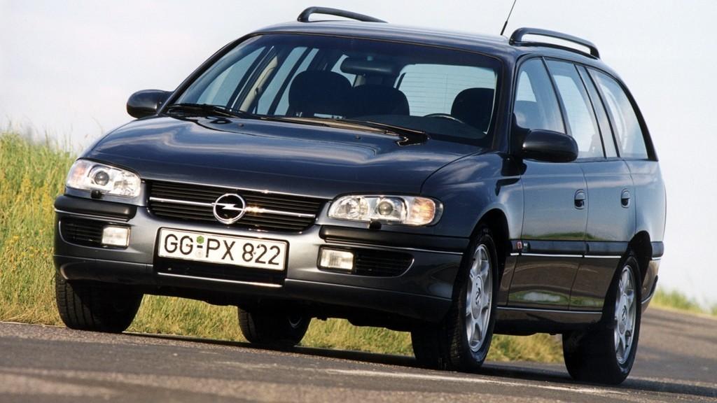 На фото: Opel Omega MV6 Caravan (B) '1994–99