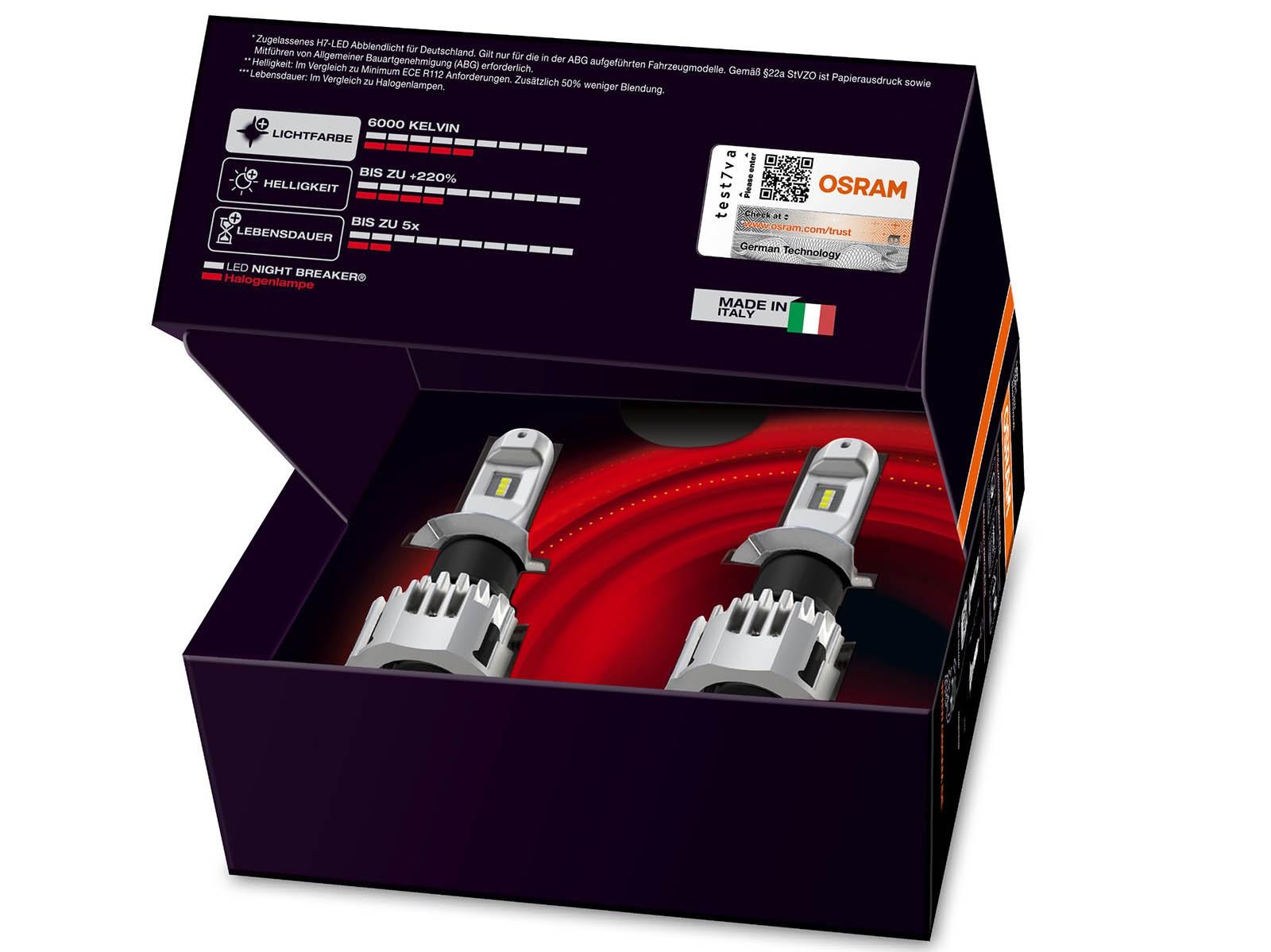 Osram Night Breaker LED: первая в мире светодиодная лампа, одобренная для дорог общего пользования.