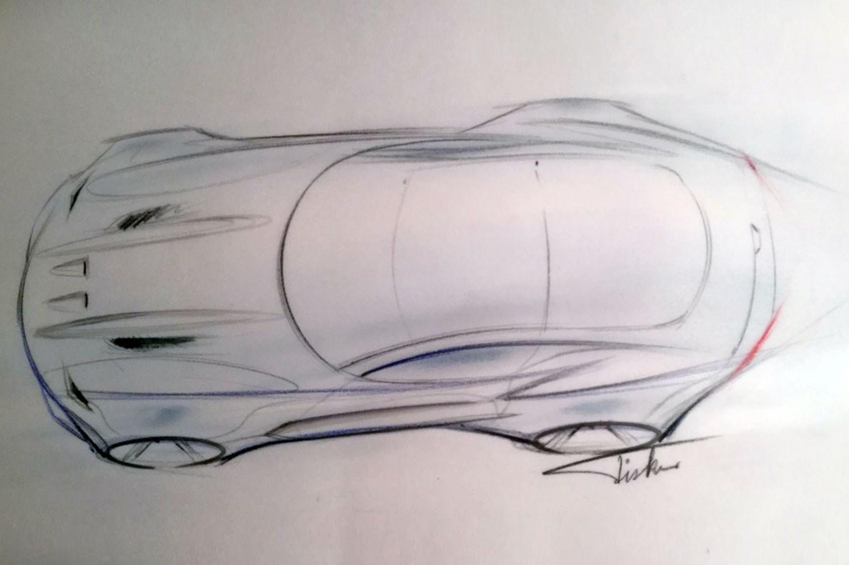 Эскиз электромобиля Atieva