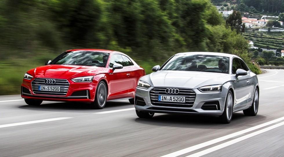 На фото: Audi S5 Coupe и Audi A5 Coupe нового поколения