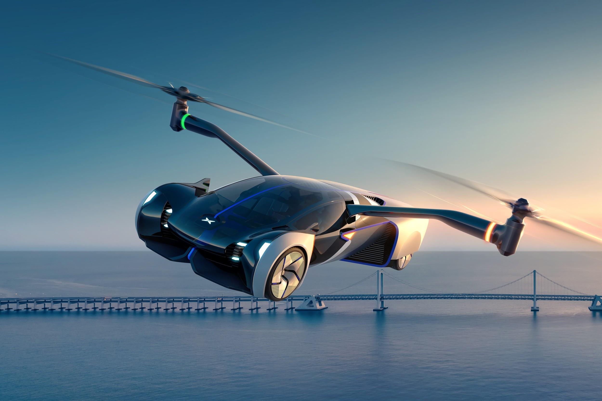 Xpeng показала аэромобиль со складными винтами, производство — в 2024 году