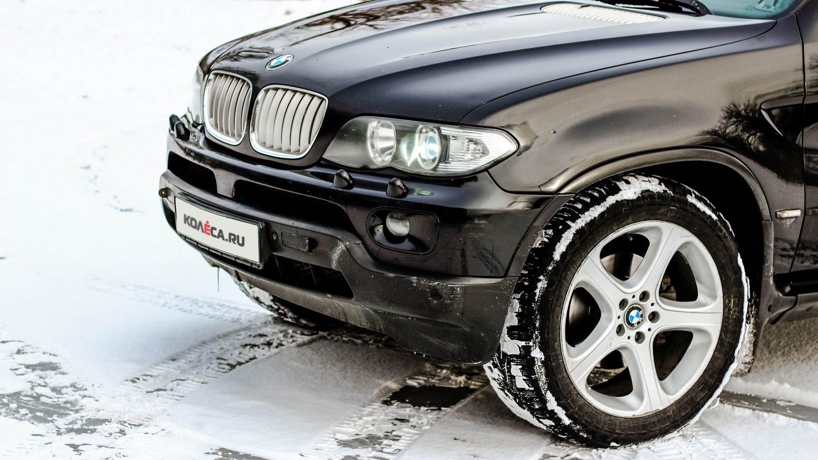 BMW X5 E53 чёрный передняя часть