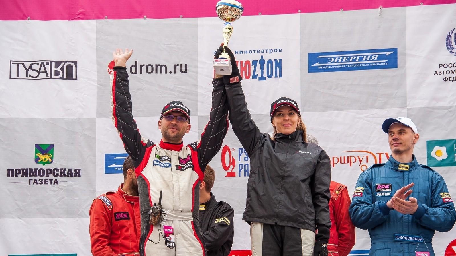 Второе место на этапе занял Максим Седых, третье – Екатерина Седых. Оба пилота представляют Team Yokohama, победившую в командном зачете.
