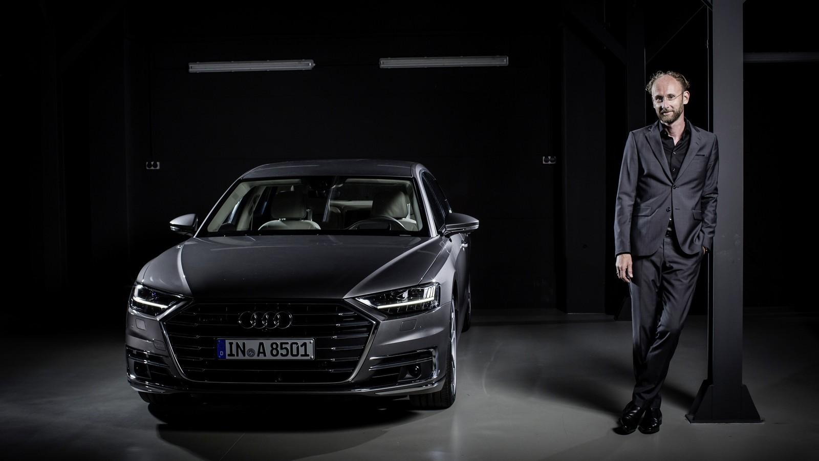 A8 и шеф-дизайнер Audi Марк Лихте