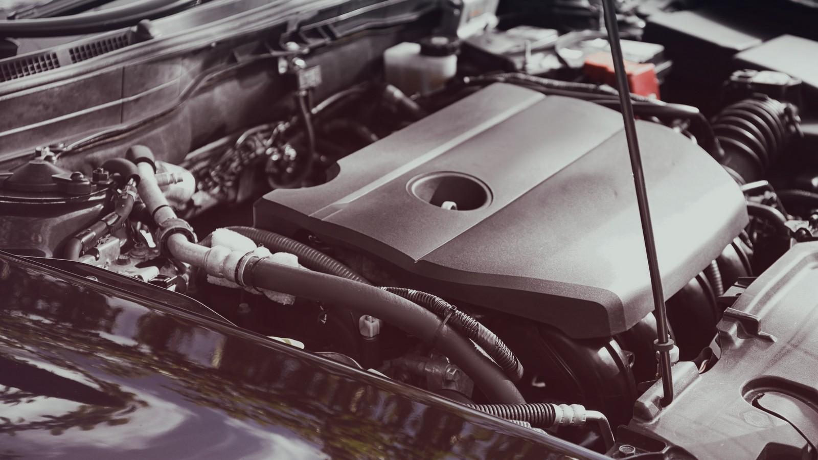 Car engine, closeup
