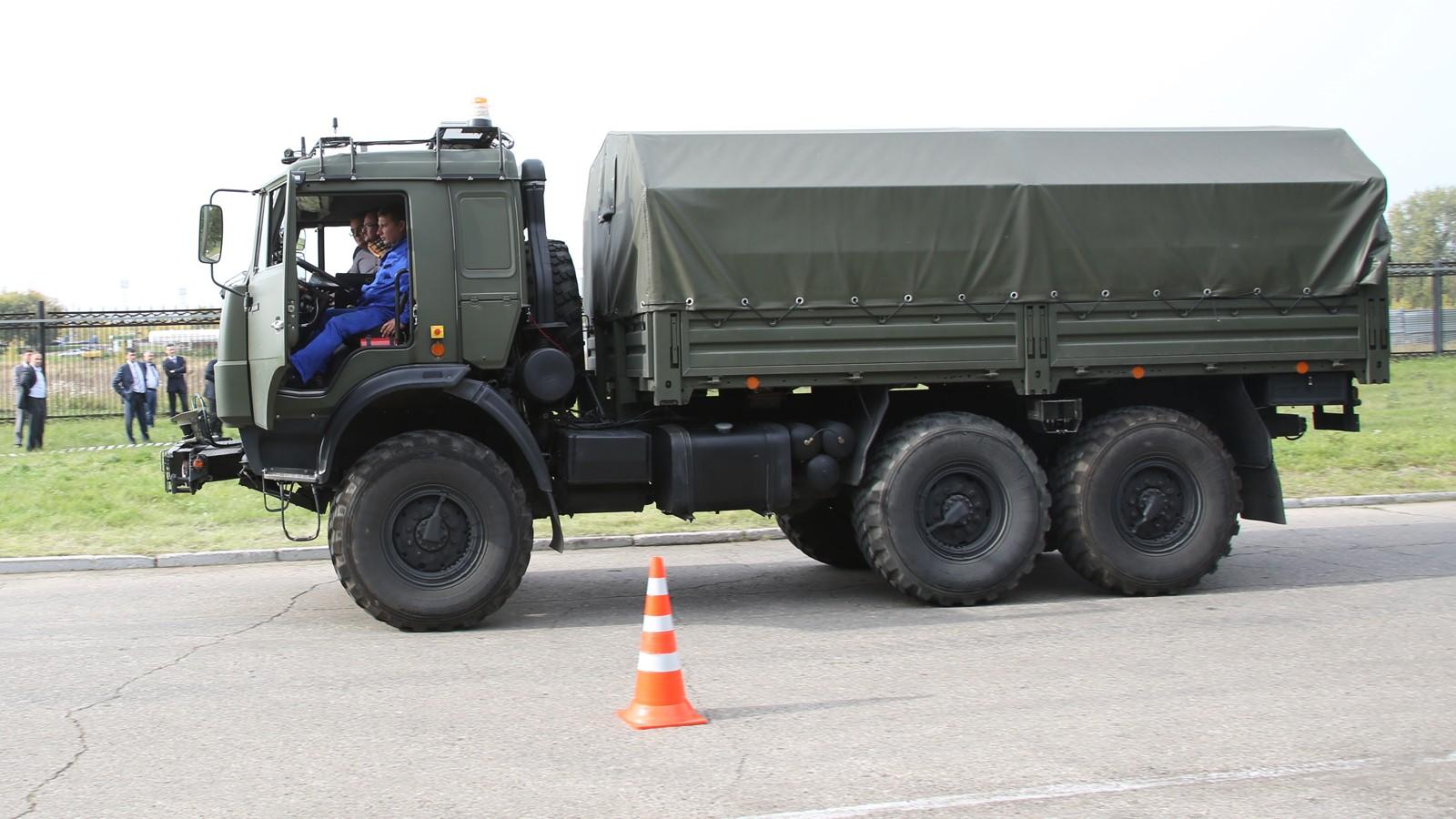 На фото: прототип беспилотника КАМАЗ