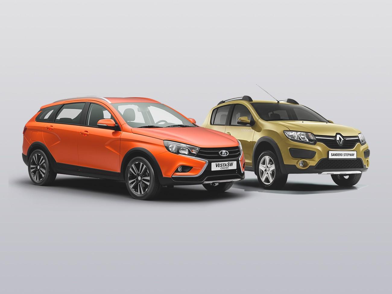 Разные одноклассники: что выгоднее купить – Lada Vesta SW Cross или Renault Sandero Stepway