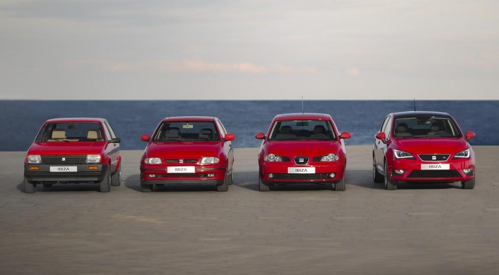 На фото: четыре поколения Seat Ibiza