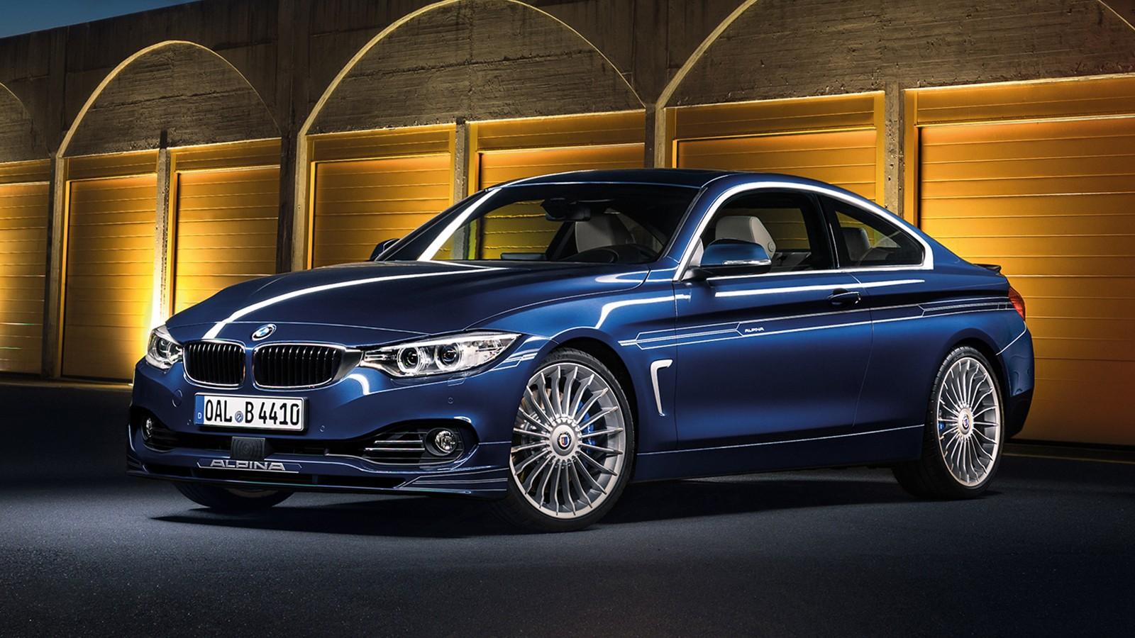 На фото: BMW Alpina B4 Bi-Turbo Coupe. Автомобиль оснащён 410-сильной