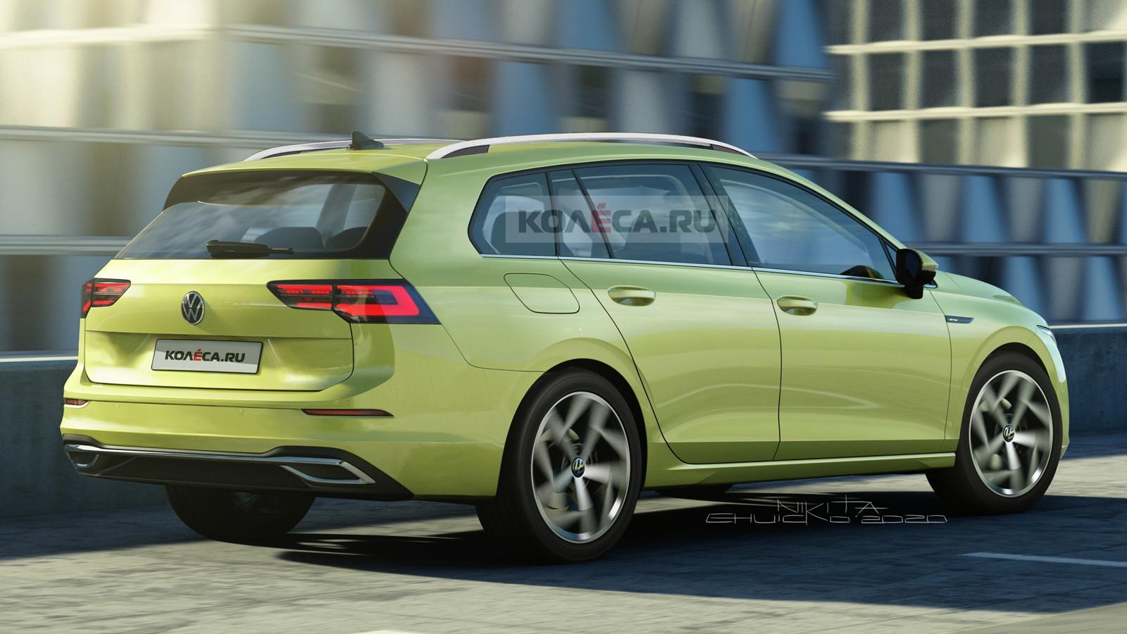 Новый универсал Volkswagen Golf: первые изображения