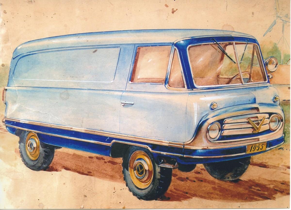 Знаменитый рисунок дизайнера НАМИ Арямова. По подобным эскизам делали первую опытную серию