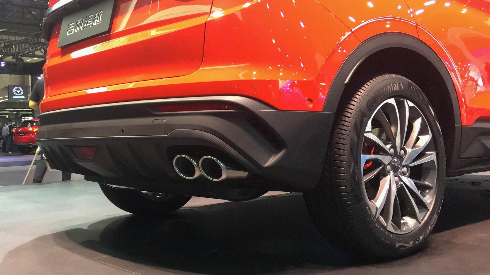 Geely SX11 оранжевый вызлопные трубы