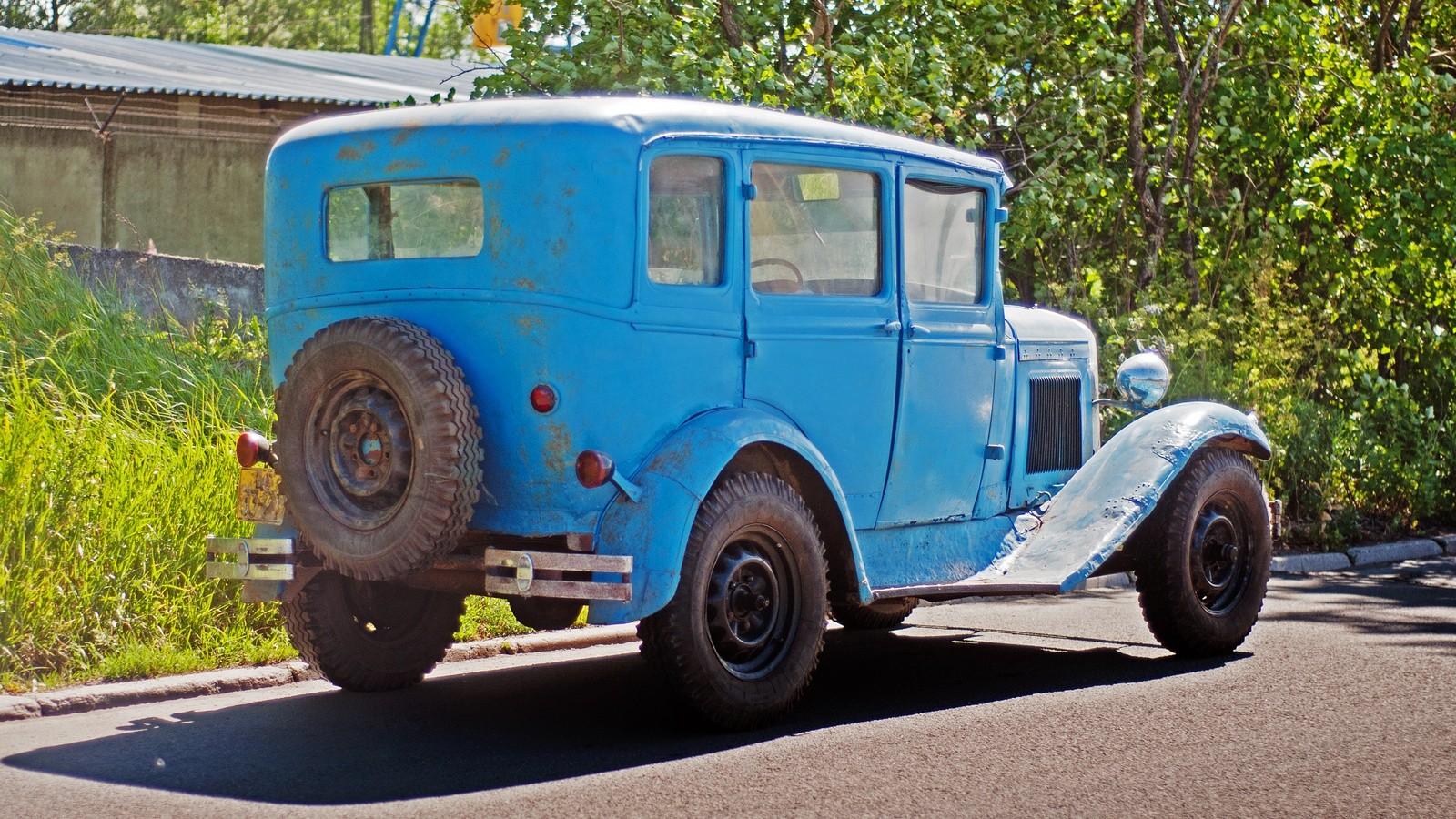 ГАЗ-6 сзади