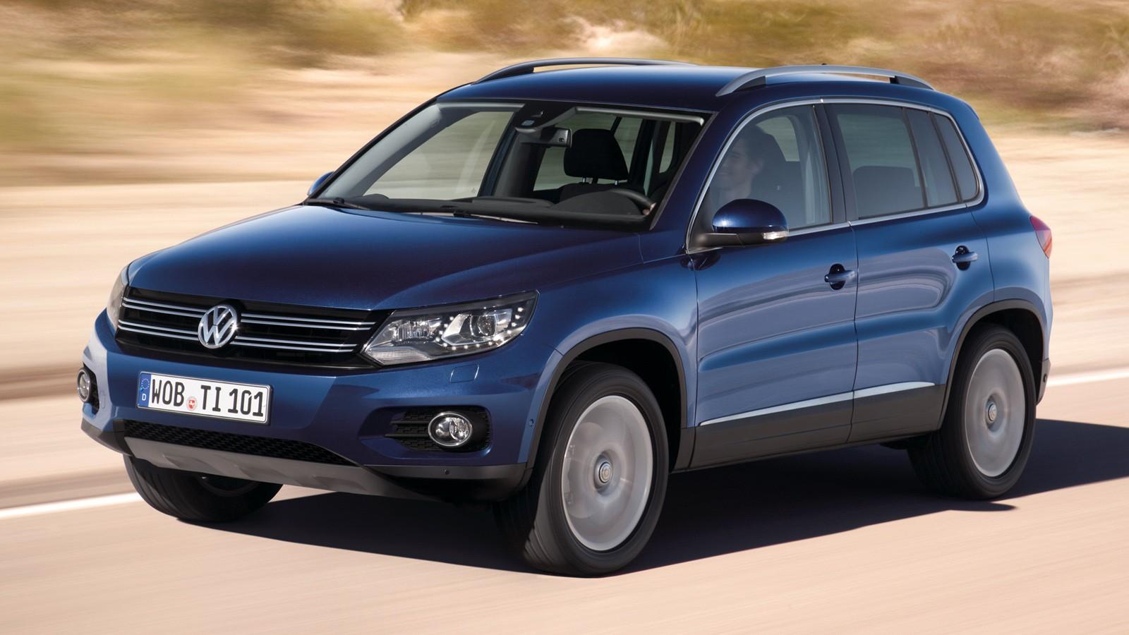 На фото: VW Tiguan предыдущего поколения