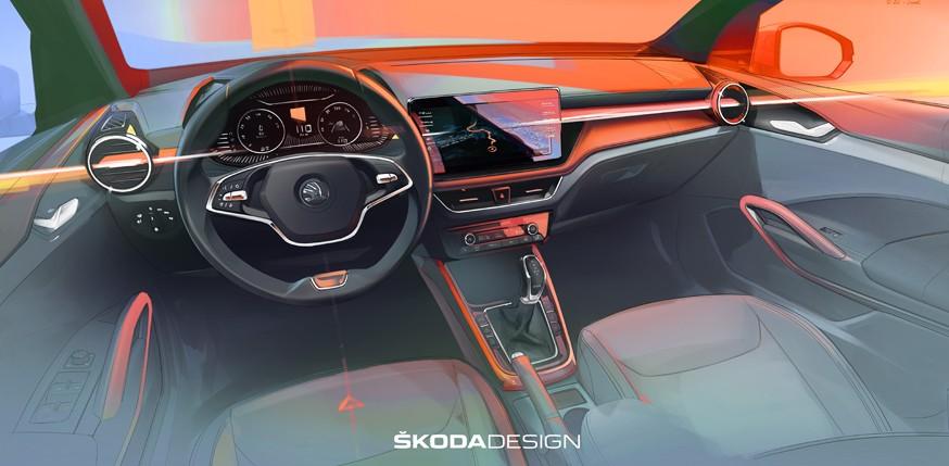 Skoda Fabia четвёртого поколения получит интерьер от актуальной Octavia