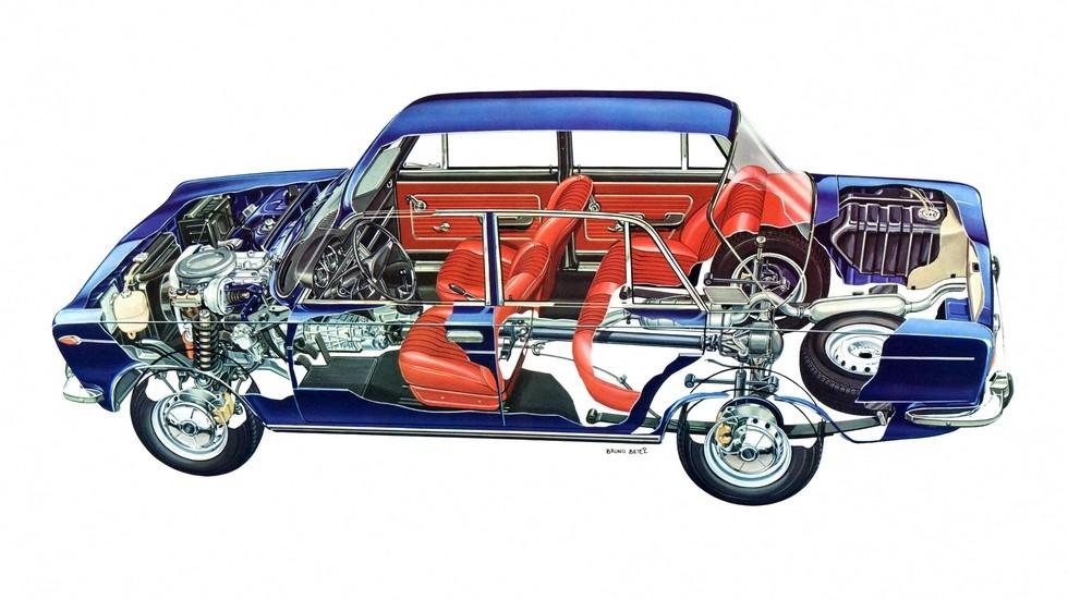 Fiat-125 – редкое сочетание архаичной рессорной подвески сзади и двух распределительных валов в головке блока цилиндров!