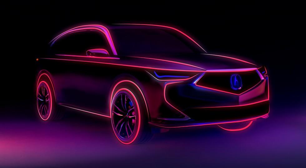 Салон нового кросса Acura MDX: обещали скачок в дизайне, оказалось – как у TLX, но с фишками