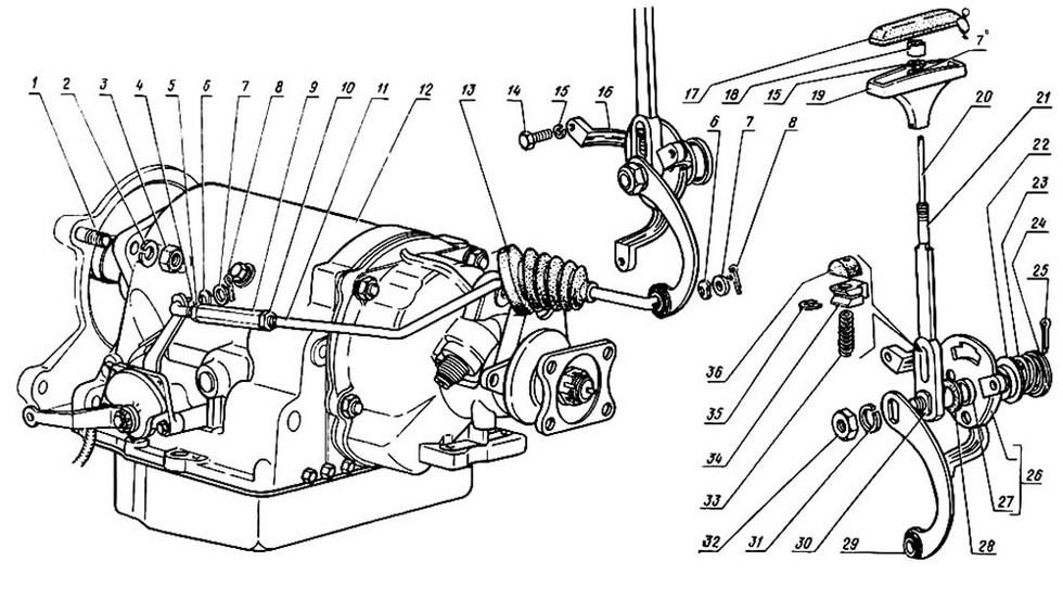 ГМП ГАЗ-14 получила Т-образный селектор с новыми режимами работы трансмисии