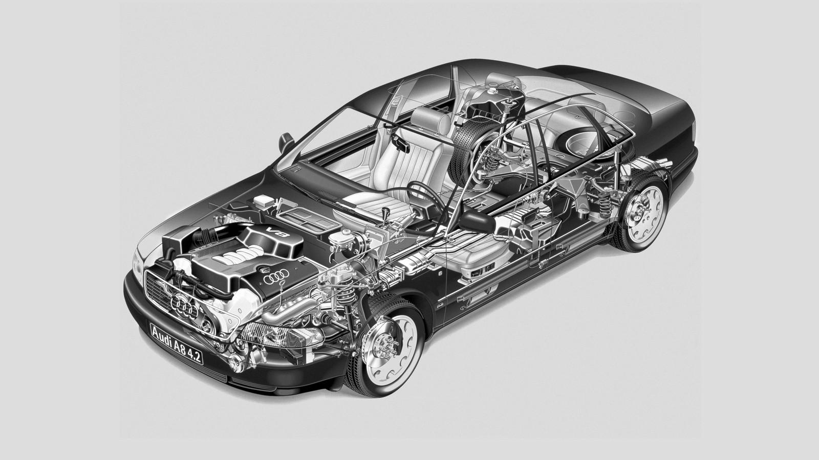 На фото: Audi A8 4.2 quattro (D2) '1994–99