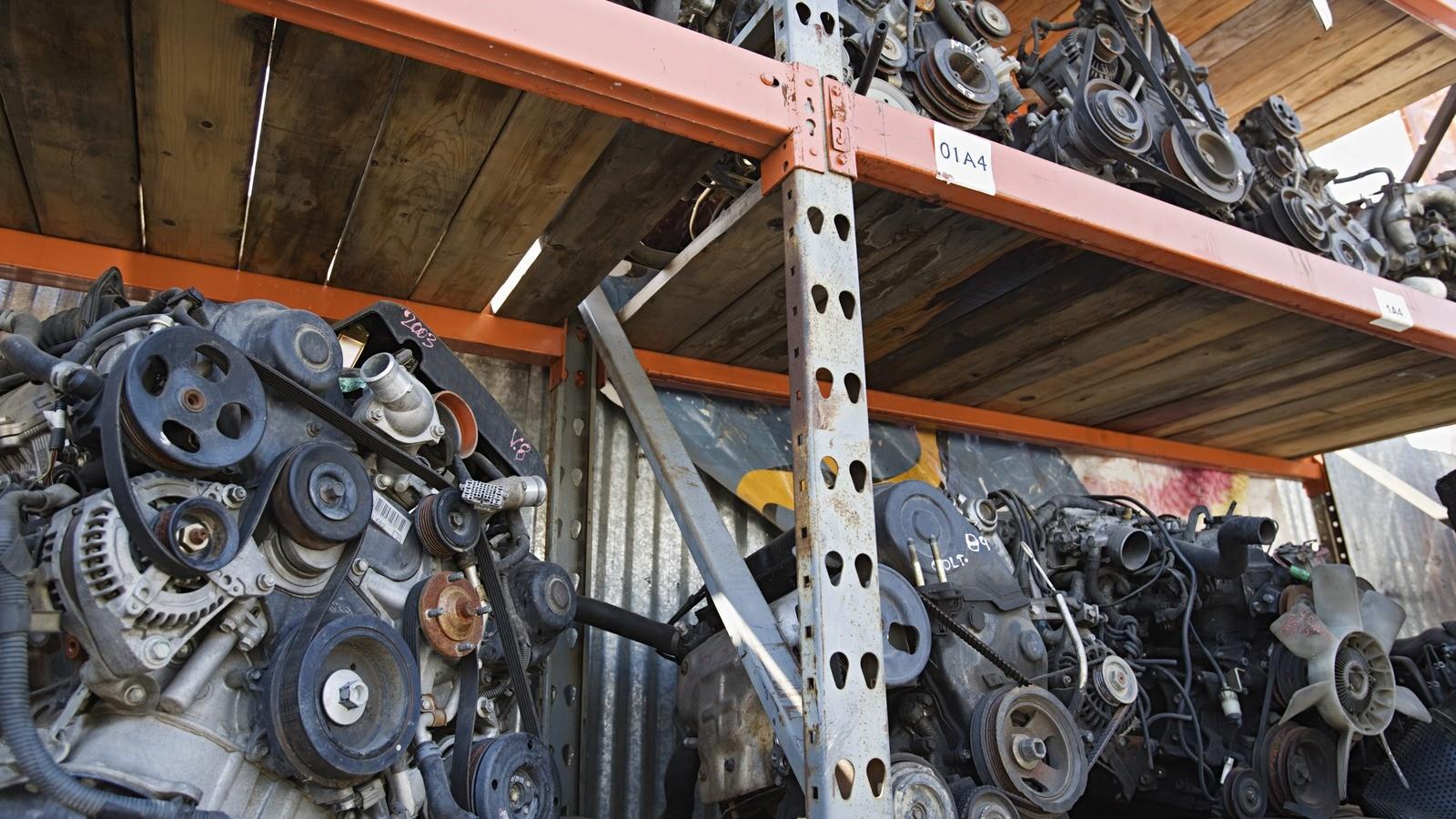 Scraped Car Engines