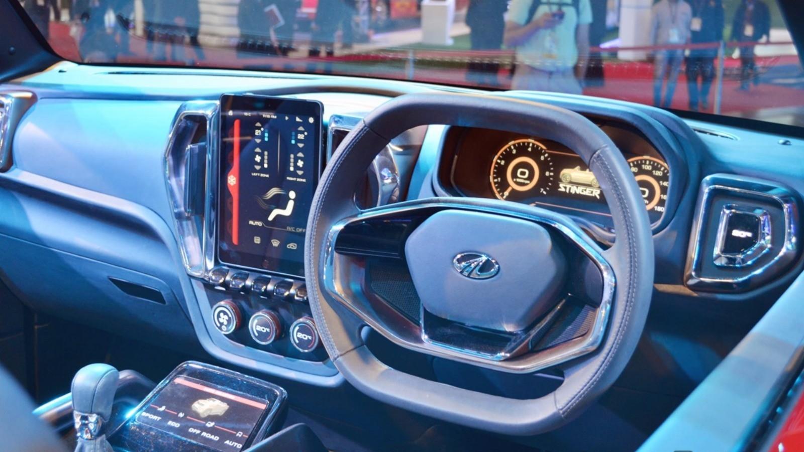 Mahindra-TUV-Stinger-concept-dashboard-at-Auto-Expo-2018