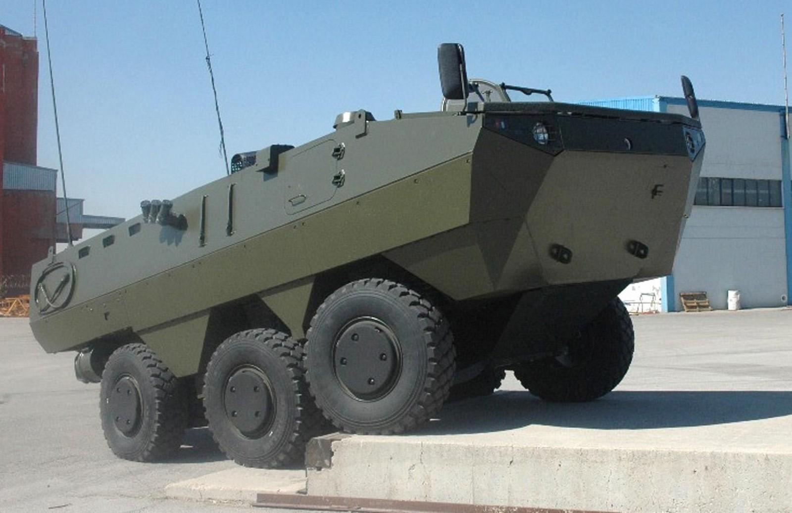 Трехосная 450-сильная плавающая боевая бронемашина Nurol Ejder 6х6