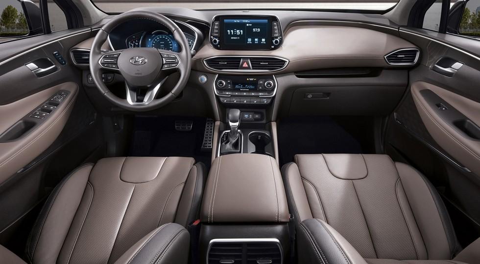 Интерьер Hyundai Santa Fe нового поколения